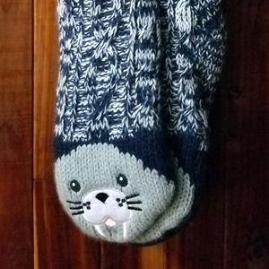 😼Sale😼 Cute cat fleece lined slipper socks